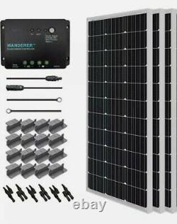 Renogy Solar Panel 12-Volt Monocrystalline Silicon 3-Panels Electrical Wire