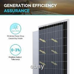 Renogy Solar Panel 2pcs 100 Watt 12 Volt Monocrystalline, 2-Pack Compact Design