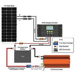 Renogy Solar Panels 100 Watt 12 Volt Monocrystalline (Slim Design)