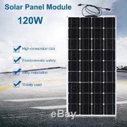 Solar Cynergy 120 Watt 12 Volt Mono Flexible Bendable Solar Panel RV Boat NEW MY