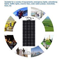 Solar Cynergy 175 Watt 12 Volt Mono Flexible Bendable Solar Panel RV Boat MX#