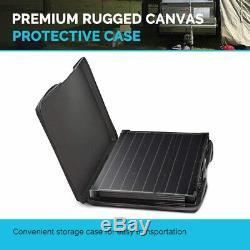 Solar Panel 100 Watt 12 Volt Monocrystalline Foldable Portable Suitcase