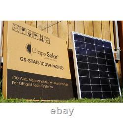 Solar Panel 100-Watt 12-Volt Weatherproof Monocrystalline Silicon Outdoor