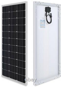 Solar Panel 100 Watt Monocrystalline 12-Volt Off-Grid System RVs Camper Hiking