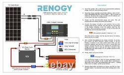 Solar Panel 100 Watts 12 Volts Monocrystalline Easy Installation (Bestseller)