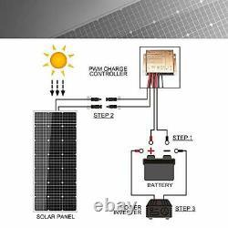 Solar Panel Kit 100 Watt 12 Volt Monocrystalline Off Grid System for Homes RV