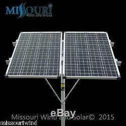 Solar Panel Mounting Rack top of pole fits (2) 100 watt 12 volt solar panel