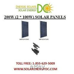 Solar Panel Panneau Solaire PV 200 W 2 100 W Poly Watt 12 Volt MC4 RV VR Cabin