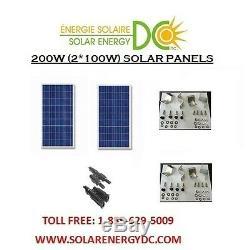 Solar Panel Panneau Solaire PV 200 W 2 100 W Poly Watt 12 Volt RV Z brackets