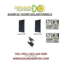Solar Panel Panneau Solaire PV 200 W 2 100 W Watt Mono 12 Volt chalet brackets