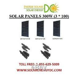Solar Panel Panneau Solaire PV 300 W 3 100 mono W Watt 12 Volt MC4 chalet RV