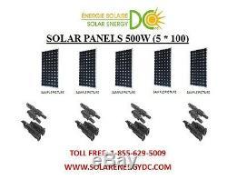 Solar Panel Panneau Solaire PV 500 W 5 100 W Watt 12 Volt MC4 chalet RV