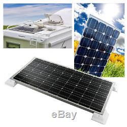 Solar Panel Set 100W MPPT Regler Halter 5M Kabel Sika Dachdurchführung