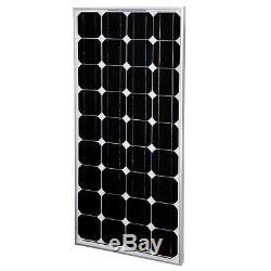 Solar Panel Set 130W MPPT Regler Halter 5M Kabel Sika Dachdurchführung