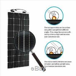Solar Panels 160 Watt 12 Volt Extremely Flexible Monocrystalline Ultra Thin