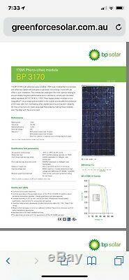Solar Panels BP 170 watt 40 volt 20 PACK