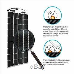 Solar Panels Renogy 100 Watt 12 Volt Extremely Flexible Monocrystalline Garden
