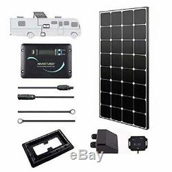 Solar RV Kit 100 Watts 12 Volts Eclipse with 30A PWM LCD Charge Controller