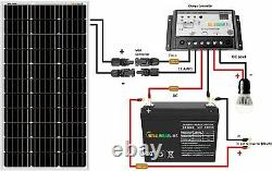 Sonali Solar SLEEK 100 Watts 12 Volts Monocrystalline Kit with10A PWM LCD Charge C