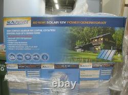 Sunforce 80 Watt Solar 12 Volt Power Generator Kit 80w 12V Backup Solar Power