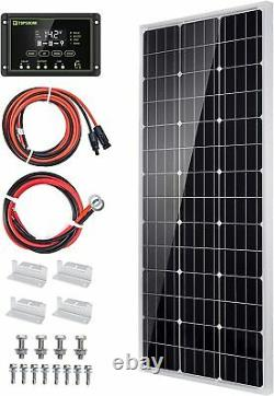 Topsolar Solar Panel Kit 100 Watt 12 Volt Monocrystalline Off Grid System for Ho