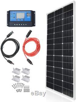 Tp-Solar Solar Panel Kit 100 Watt 12 Volt Monocrystalline Off Grid System For Ho