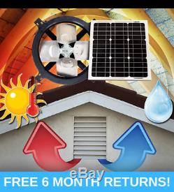 Us Sunlight 25w Solar Gable Fan 1125apv Adjustable Mounting Bracket 24 Volt
