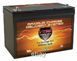 VMAX SLR100 12V 100Ah AGM Deep Cycle 12 Volt Battery for REC SOLAR Solar Panels