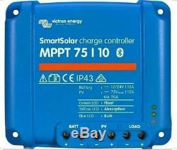 Victron Energy SmartSolar MPPT 75/10 10 Amp 12/24 Volt Bluetooth link to phone