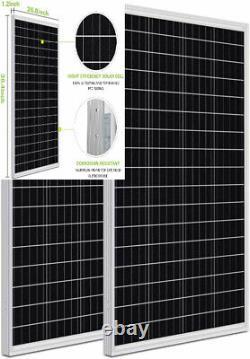 WEIZE 200 Watt 12 Volt Monocrystalline Solar Panel, 2 Pack of 12V 100W