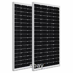 WEIZE 200 Watt 12 Volt Monocrystalline Solar Panel, 2 Pack of 12V 100W High-Effi