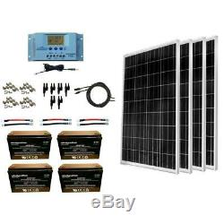 WindyNation 400-Watt Off-Grid Polycrystalline Solar Panel Kit with12-Volt Battery