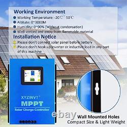 XYZ INVT MPPT Solar Charge Controller 60A Max 170V Input Volt PV Solar Panel LCD